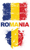 Grunge elementy z flaga Rumunia ilustracja wektor