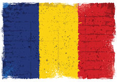Grunge elementy z flaga Rumunia royalty ilustracja