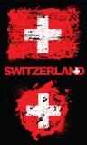 Grunge elementy z flaga Szwajcaria royalty ilustracja