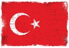 Grunge elementy z flaga Turcja ilustracji