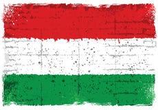 Grunge elementy z flaga Węgry ilustracji