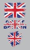 Grunge elementy z flaga Wielki Brytania ilustracji