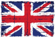 Grunge elementy z flaga Zjednoczone Królestwo royalty ilustracja