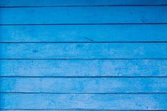 Grunge eller blå trätabell- eller väggtextur för tappning Royaltyfri Fotografi