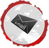 Grunge email sign Stock Image