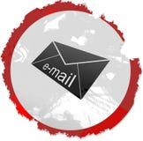 Grunge email sign royalty free illustration