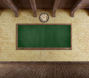 Grunge empty classroom Stock Photo