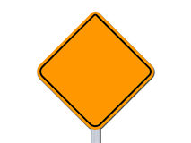 Grunge empty road sign with clipping path. On white background Stock Illustration