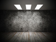 Grunge of empty room Stock Image