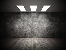 Grunge of empty room Stock Image