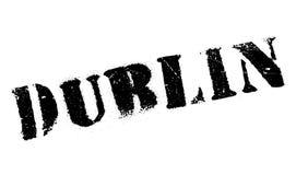 Grunge en caoutchouc de timbre de Dublin Image stock