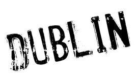 Grunge en caoutchouc de timbre de Dublin Images stock