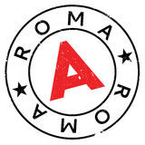 Grunge en caoutchouc de timbre de Roma illustration de vecteur