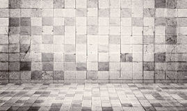 Grunge en de de uitstekende muur van de stijl betontegel en achtergrond van de vloertextuur Stock Afbeelding