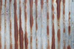 Grunge en de oude muur van het zinkblad, Oppervlakte en textuur Stock Fotografie