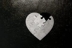 Grunge en forme de coeur Photos stock