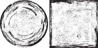 Grunge en rond et texture carrée de cadres Vecteur Photo stock