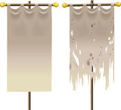 Grunge en schone banner Royalty-vrije Stock Afbeeldingen