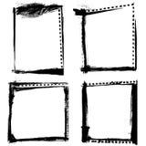 Grunge enmarca vector stock de ilustración