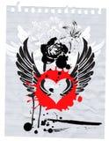 Grunge et amour Image stock