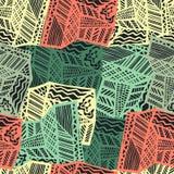 Grunge ethnic background. Brown seamless vector pattern. Ethnic vector illustration handmade. Tribal motives. Stock Photo