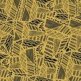Grunge ethnic background. Brown seamless vector pattern. Ethnic vector illustration handmade. Tribal motives. Grunge ethnic background. Brown seamless vector Royalty Free Stock Photo
