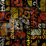 Grunge ethnic pattern royalty free illustration