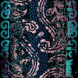 Grunge ethnic pattern. Stock Photography