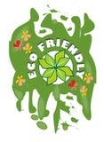Grunge etykietka dla ekologicznie życzliwego produktu Obraz Royalty Free