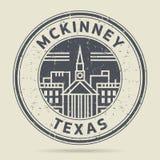 Grunge etykietka z tekstem Mckinney lub pieczątka, Teksas royalty ilustracja