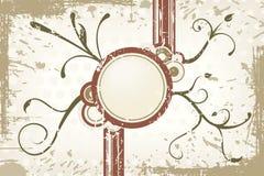 grunge etykiety wektora brown Zdjęcia Royalty Free