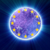 Grunge eu symbol Royalty Free Stock Photo