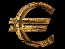 Grunge Euro symbol Stock Image