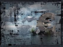 Grunge euro at water Stock Images