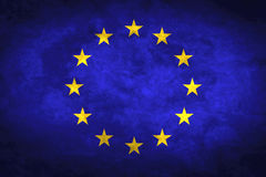 Grunge European Flag Royalty Free Stock Image
