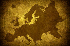 Grunge european map Royalty Free Stock Photography