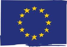 Grunge EUROPEAN UNION flag or banner Royalty Free Stock Image