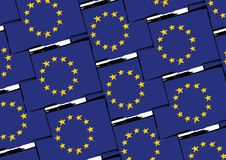 Grunge EUROPEAN UNION flag or banner Royalty Free Stock Photography