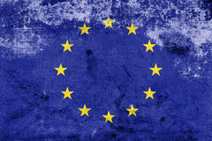 Grunge European Union Flag. EU Flag Royalty Free Stock Image