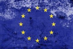 Grunge Europese Unie Vlag Royalty-vrije Stock Afbeelding