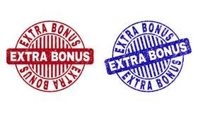Grunge EXTRA BONUS Textured Round Stamps vector illustration