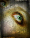 Grunge eye Stock Photo
