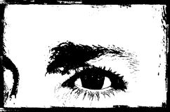 Grunge eye Stock Images