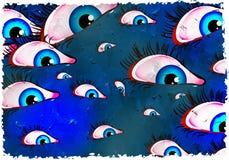 Grunge eyes Royalty Free Stock Photography