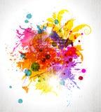 Grunge färbte Hintergrund Lizenzfreie Stockfotografie