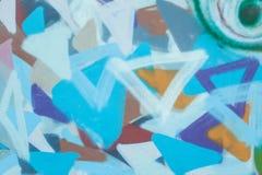 Grunge färgade den röda blåa väggen, pantonen, cement, tegelstenar Fotografering för Bildbyråer