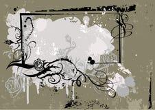 grunge för 2 ram vektor illustrationer