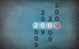 grunge för 2009 blue Royaltyfri Bild