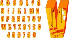 grunge för alfabet 3d Fotografering för Bildbyråer