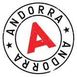 Grunge för Andorra stämpelgummi Arkivbilder